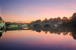 Турин (Турин), панорама с рекой Po Стоковая Фотография