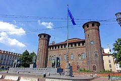 Турин Palazzo Madama и Casaforte Acaja Стоковое Изображение