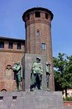 Турин Palazzo Madama и Casaforte Acaja Стоковое Изображение RF