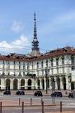 Турин Vittorio венето придает квадратную форму стоковая фотография rf