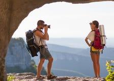 2 туриста. Стоковое Фото