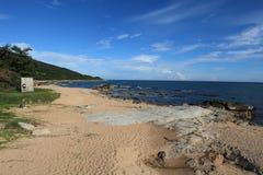 Туристическая зона пляжа Sanya Стоковое Изображение RF