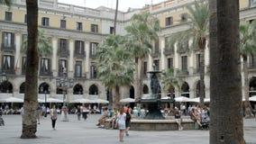 Туристическая достопримечательность в Барселоне видеоматериал