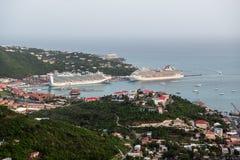 Туристические судна в гавани Стоковые Фото
