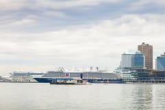 Туристические судна причаленные на порте Ванкувера Стоковое Фото
