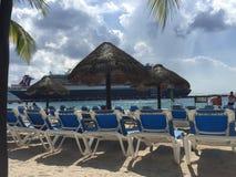 Туристические судна в доке (Cozumel Мексика) Стоковое Изображение