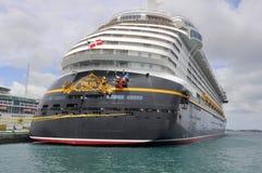 Туристическое судно в Нассау, Багамские острова мечты Дисней Стоковое Фото