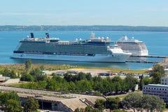 Туристическое судно в порте Таллина, Эстонии Стоковое Изображение