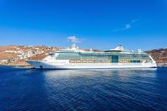 Туристическое судно, остров Mykonos Стоковое Фото