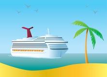 туристическое судно иллюстрация вектора