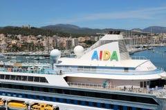 Туристическое судно AidaAura Стоковые Фото