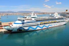 Туристическое судно AidaAura Стоковое фото RF