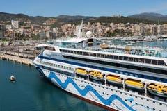 Туристическое судно AidaAura Стоковая Фотография