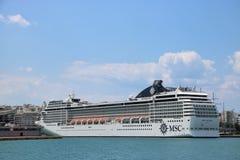 Туристическое судно MSC Musica в Пирее Стоковые Изображения