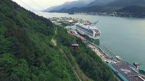 Туристическое судно Аляски видеоматериал
