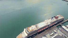 Туристическое судно Аляски сток-видео