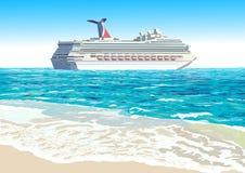 Туристическое судно, иллюстрация вектора Стоковое фото RF