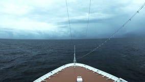 Туристическое судно на открытом море видеоматериал