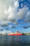 Туристическое судно прибегает bimini мира Стоковые Фотографии RF