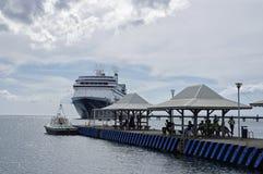 Туристическое судно Роттердам состыковало в порте Фор-де-Франс в Мартинике Роттердам Стоковые Фотографии RF