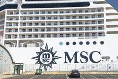 Туристическое судно MSC Musica Стоковые Изображения