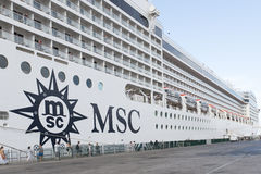 Туристическое судно MSC Musica Стоковое Изображение