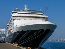 Туристическое судно Ryndam на набережной порта в Сан-Диего Стоковые Фотографии RF