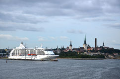 Туристическое судно te Норвегии Стоковые Фотографии RF