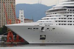 20.000 туристов высаживаются от заатлантических кораблей в Рио de январе Стоковое Изображение
