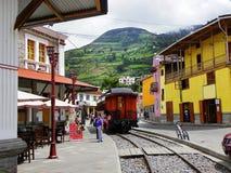 Туристская железная дорога от Alausi к носу дьявола, эквадору стоковая фотография rf