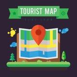 Туристская карта Стоковые Фотографии RF