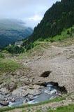 Туристская трасса в лете Пиренеи Стоковая Фотография RF