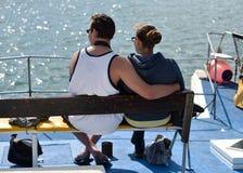 Туристские пары Luderitz, Намибия Стоковые Фото