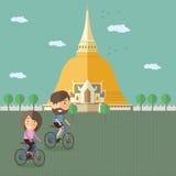 Туристский велосипед езды на Таиланде Стоковое Изображение RF