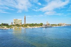 Туристский порт острова Gezira, Каира, Египта стоковое изображение rf
