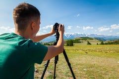 Туристский профессиональный фотограф стоковая фотография