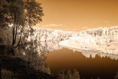 туристский след рекой Gauja в Valmiera Латвии Осень c Стоковая Фотография RF