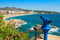 Туристский телескоп de lloret mar Испания Стоковое Изображение RF