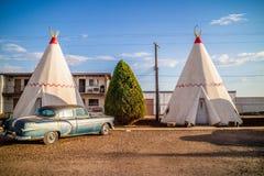 Туристский шатер с целью городка в Holbrook, Аризоне стоковое изображение rf