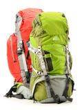 2 туристских рюкзака на белизне Стоковое Изображение