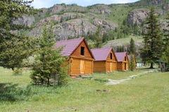 Туристское основание в горах Стоковое фото RF