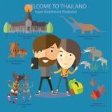 Туристское перемещение к Isarn северо-восточному Таиланду Стоковое Фото