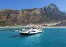 Туристское туристическое судно - Греция, Крит, залив Balos Стоковые Изображения