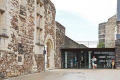 Туристы внутрь злят замок, Францию стоковое изображение rf