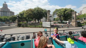 Туристы в Барселоне, Испании сток-видео