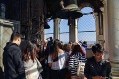 Туристы в башне Сан Marco в Венеции, Италии стоковое изображение rf