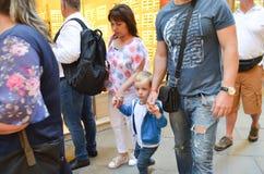 Туристы в Венеции, Италии Стоковая Фотография RF