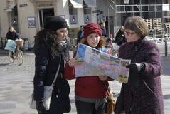 Туристы в Копенгаген Стоковая Фотография