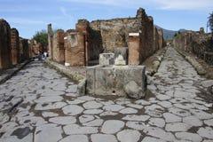 Туристы в Помпеи Стоковое фото RF