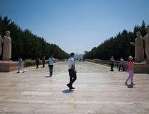 Туристы в Anitkabir, Анкаре Стоковое фото RF